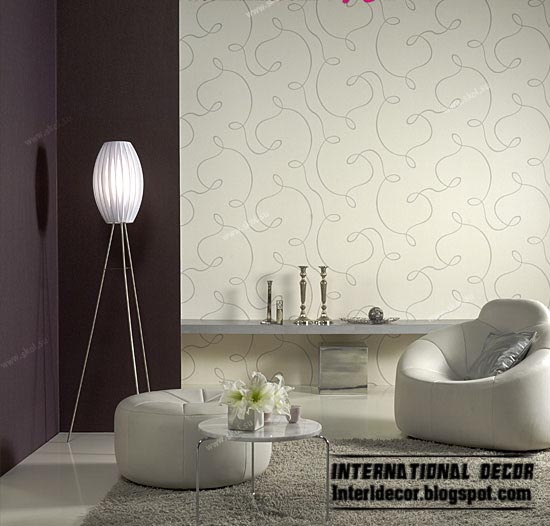 Modern living room wallpaper design ideas warm wallpaper color styles 550x526
