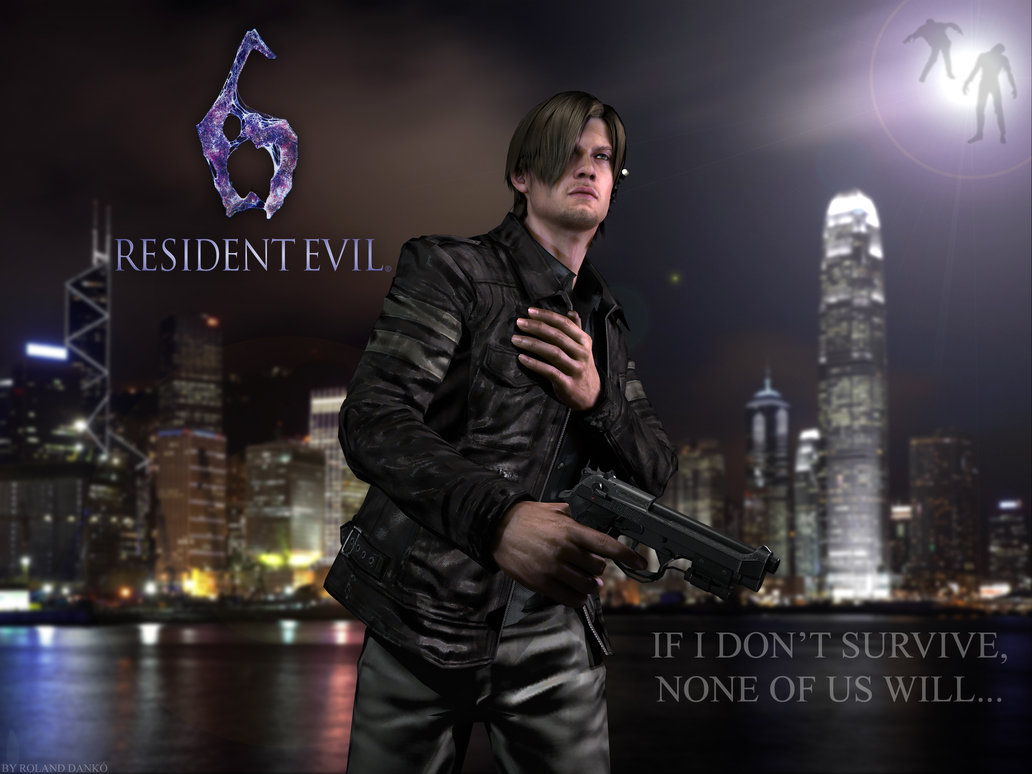 Free Download Leon S Kennedy Resident Evil 6 By Roli29 1032x774
