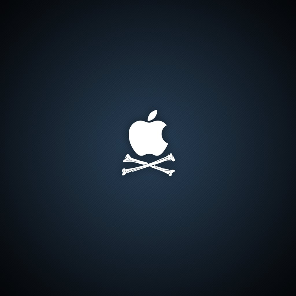 Pirate Apple Logo iPad 2 Wallpapers iPad Retina HD Wallpapers 1024x1024