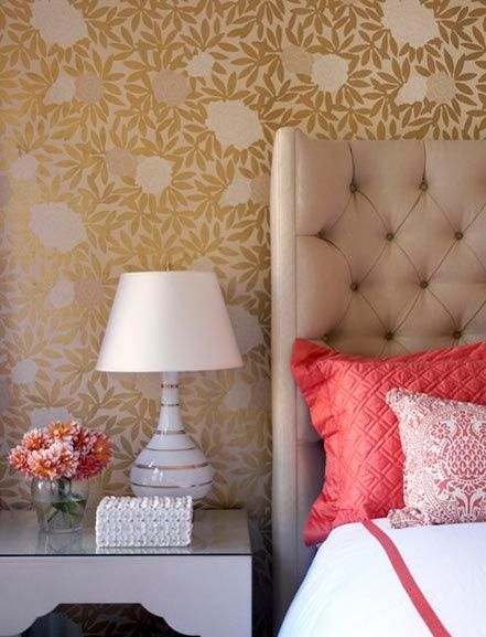 Pink and gold bedroom Home Sweet Home Pinterest 441x577