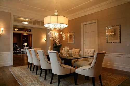 grasscloth wallpaper in the dining room 2015   Grasscloth Wallpaper 500x331