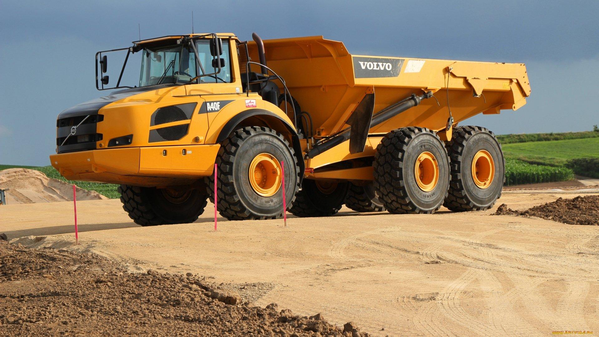 Volvo Machinery truck havey mine machine wallpaper 1920x1080