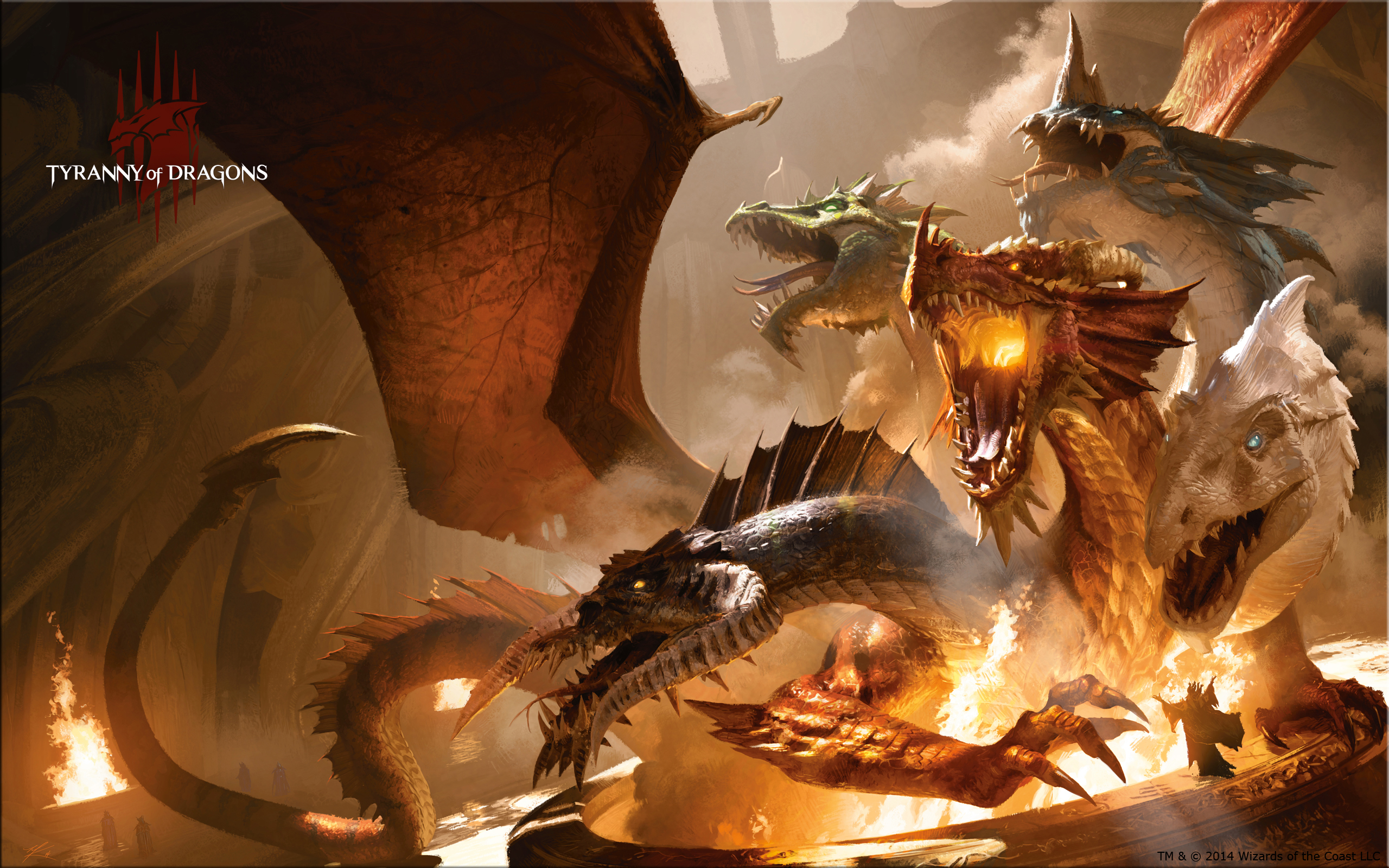 5E Wallpaper Tiamat Epic Kingdom RPG   Dungeons Dragons 2560x1600