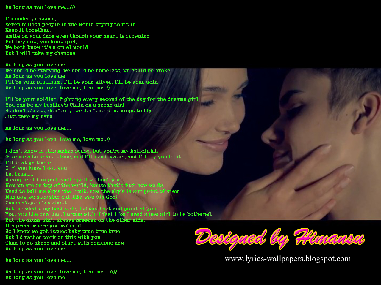 Lyrics Wallpapers   Justin Bieber   As Long As You Love Me 1280x960