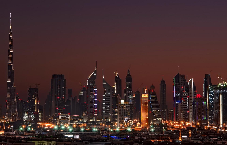 Wallpaper night home Dubai Dubai night Emirates high rise 1332x850