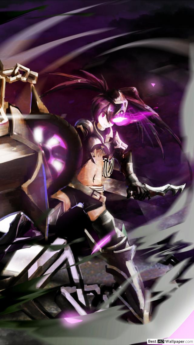 IBRS Black Rock Shooter HD wallpaper download 640x1136