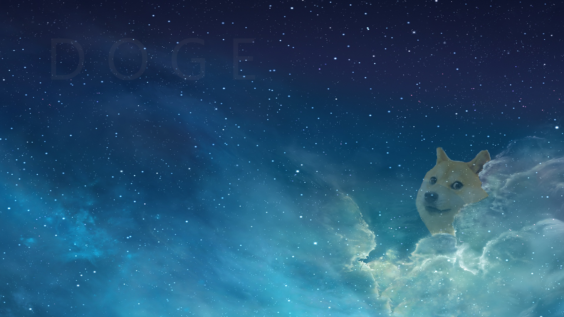Doge in the sky   Doge Wallpaper 1920x1080 86582 1920x1080