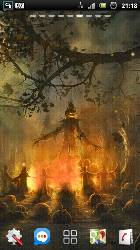 Download Halloween Camp Fire Live Wallpaper apps for Android 480x854