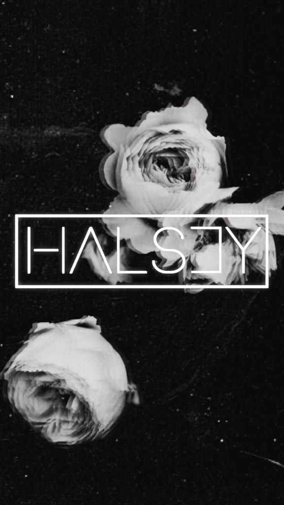 Halsey Wallpaper Black and White emo aesthetic tumblr cute love 576x1024