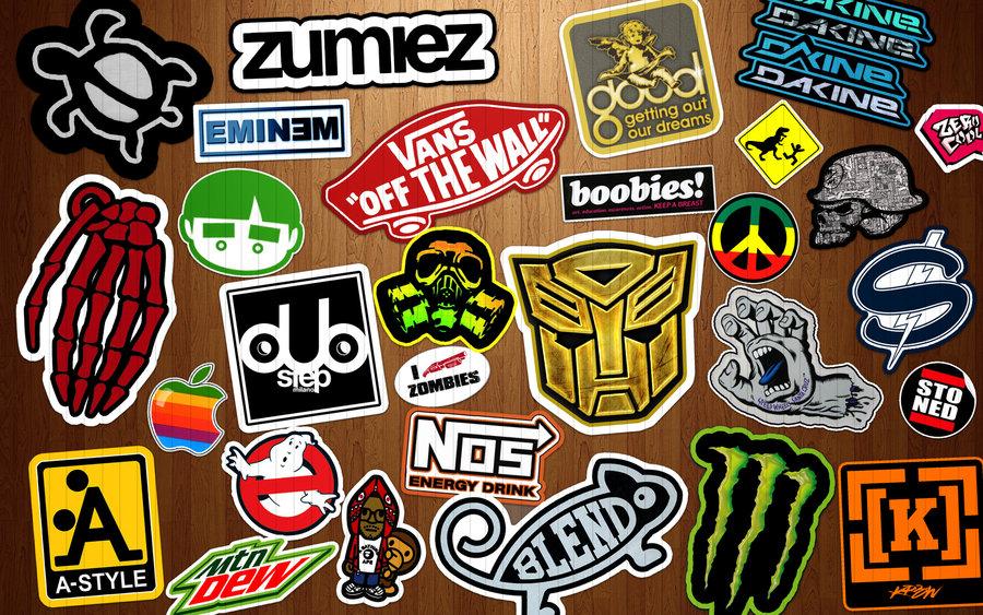 Stickers on Wood Wallpaper by dereklatondre 900x563