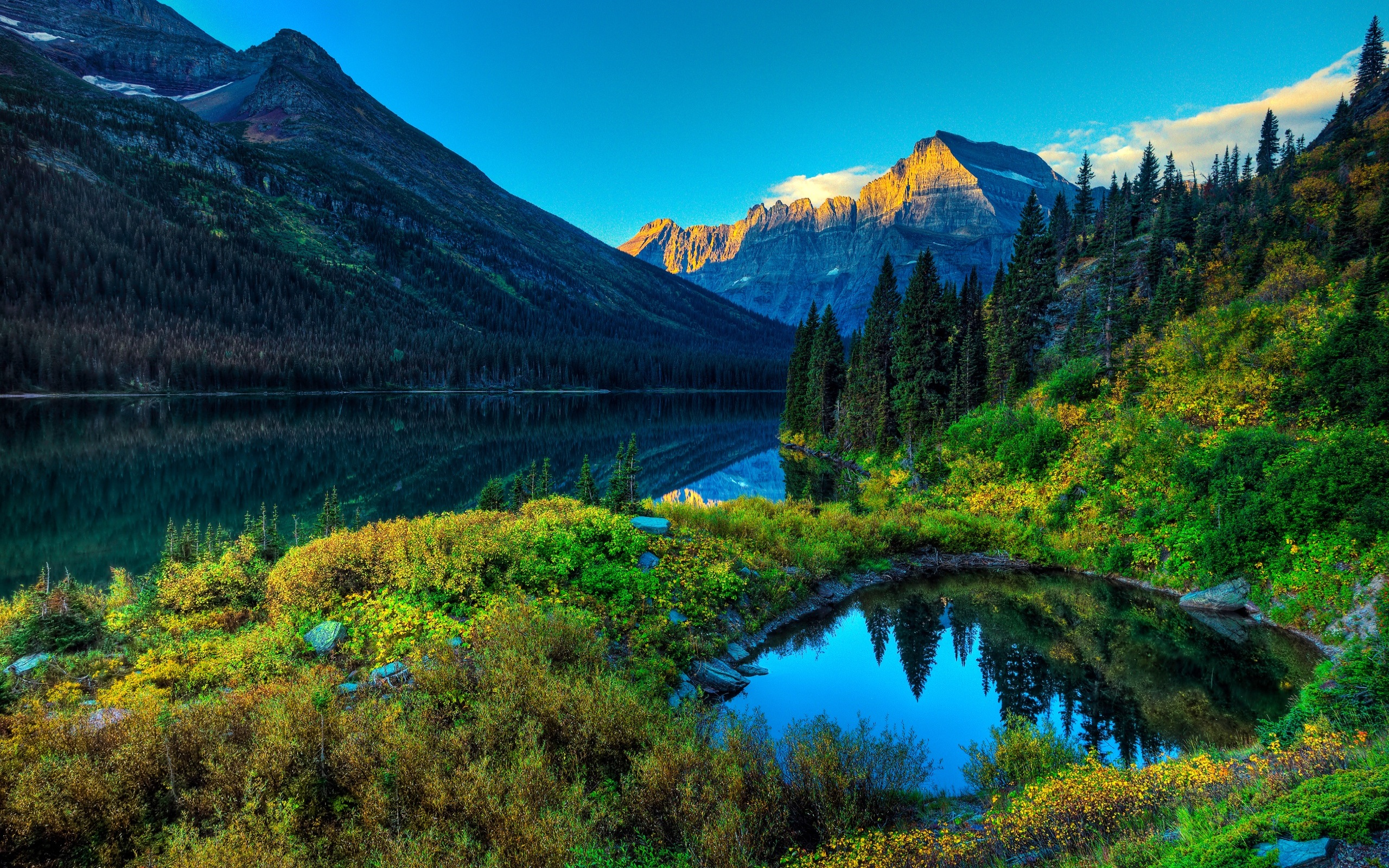 Lake Mountain Scenery Wallpapers HD Wallpapers 2560x1600