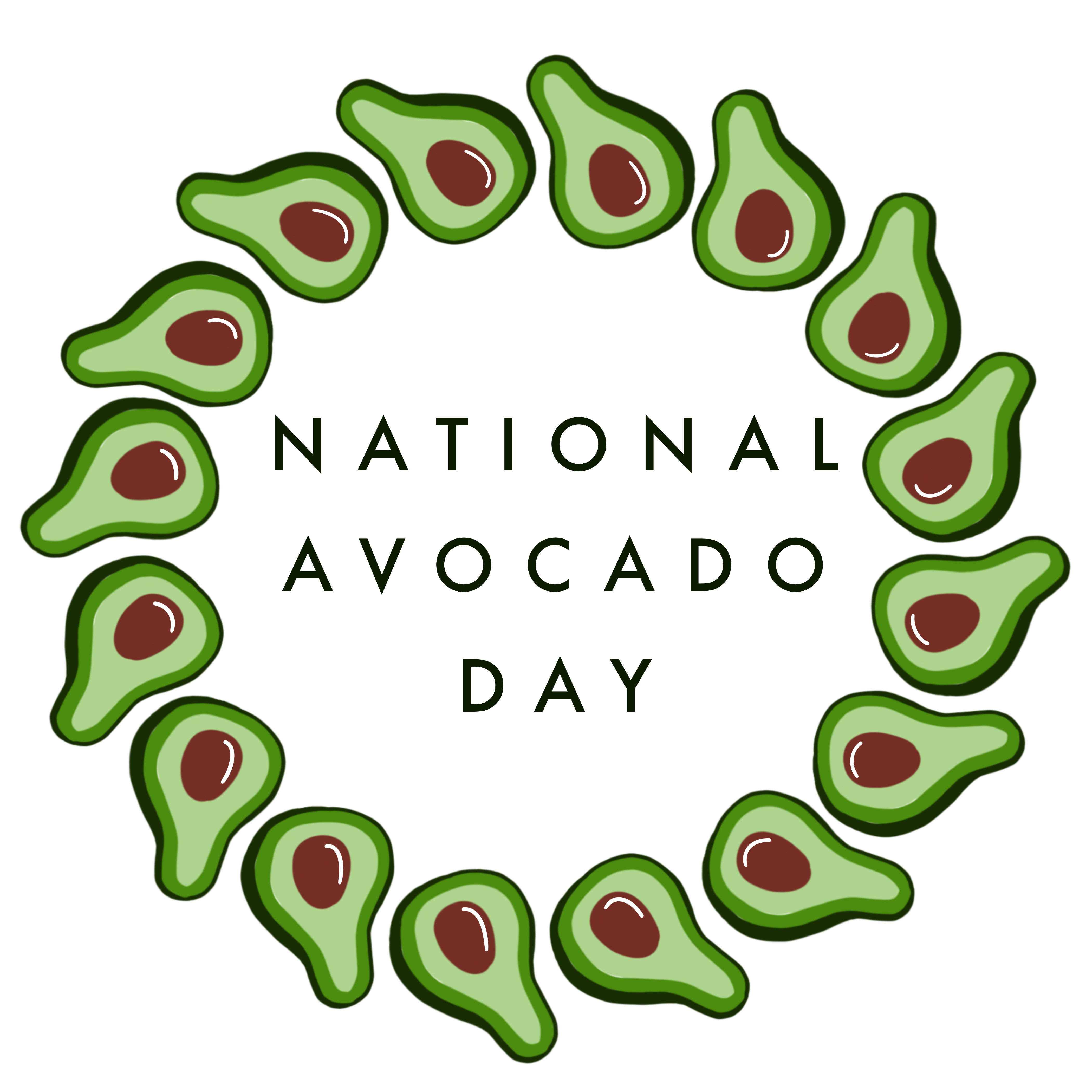 31st of July National Avocado Day Aesthetic iphone wallpaper 4200x4200