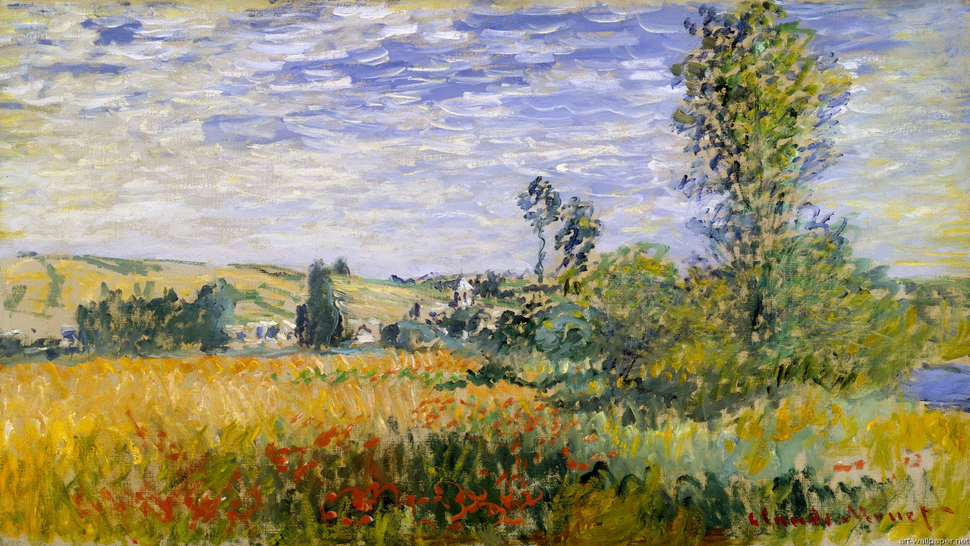 Hd monet wallpaper wallpapersafari for Claude monet impressionist paintings