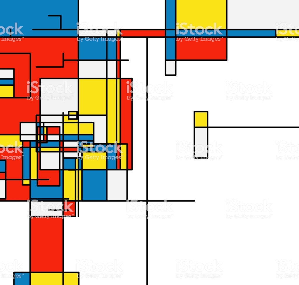 Mondrian Style Geometric Pattern Fashion Background Stock 1024x977