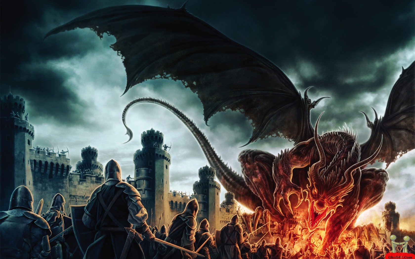 3D Dragon Burns Soldier Wallpaper E Entertainment 1680x1050