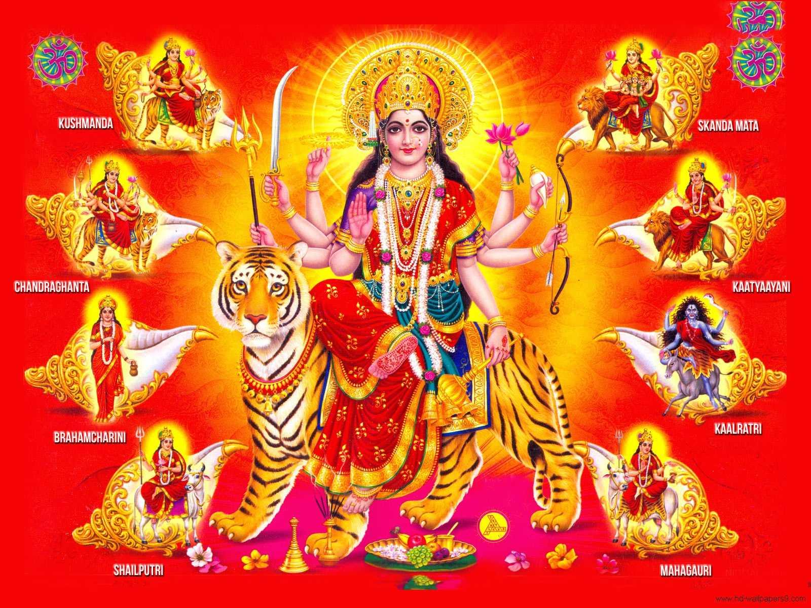 Indian God Wallpaper Desktop Hindu gog durga matha 1600x1200