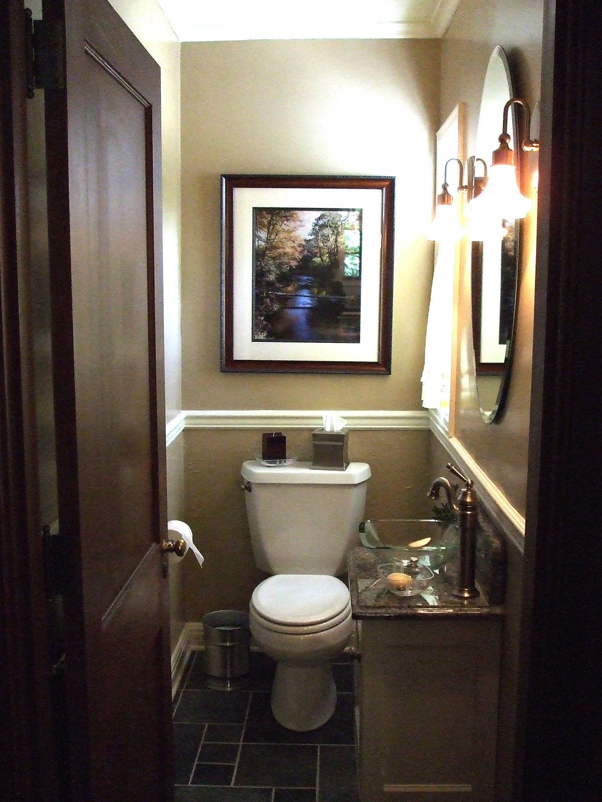 Small powder room wallpaper wallpapersafari - Tiny half bathroom ideas ...