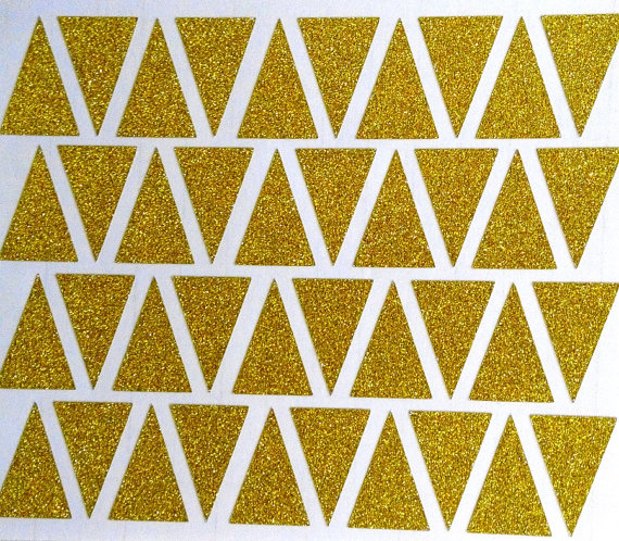 gold glitter triangles removable wallpaper home decor silver 570x498