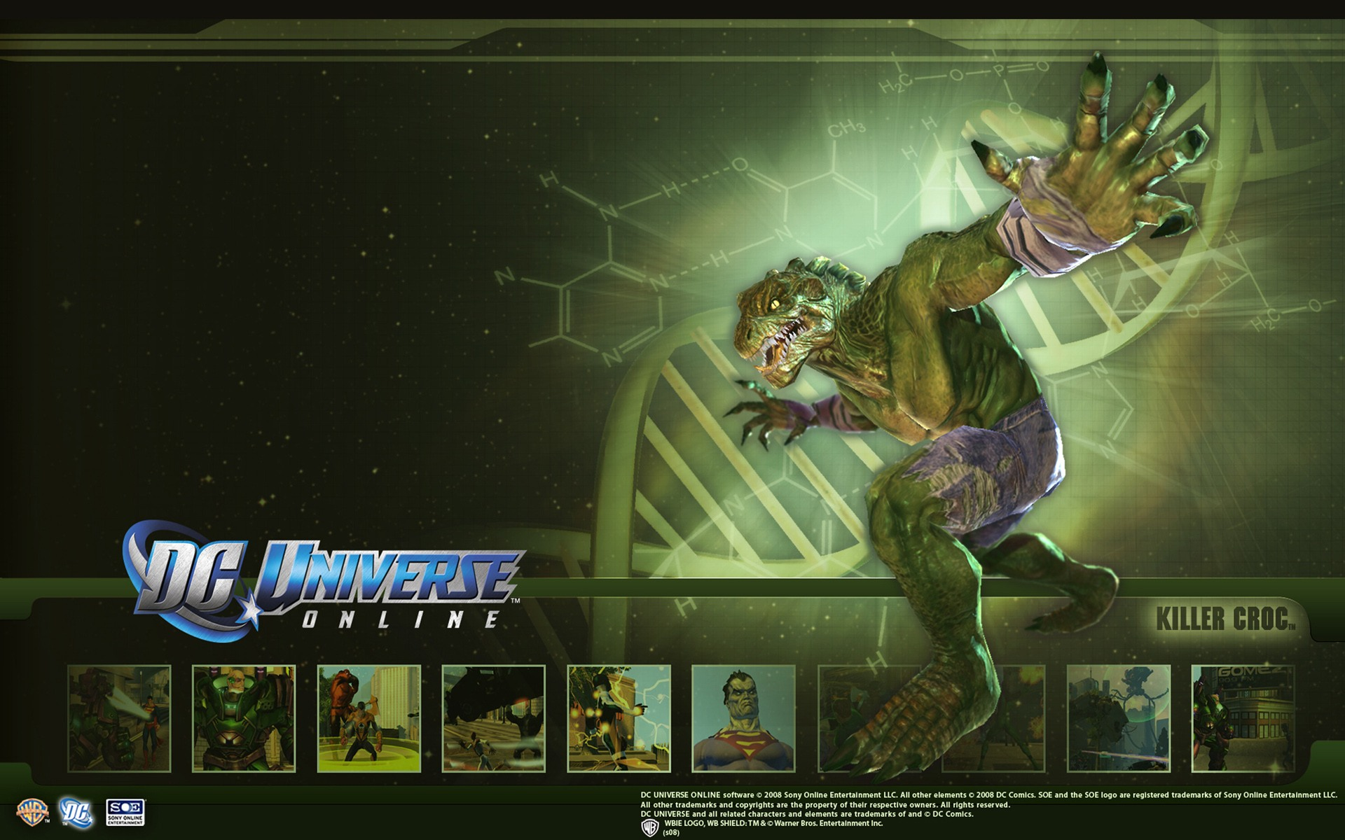 DC Universe Online   Killer Croc desktop wallpaper 1920x1200