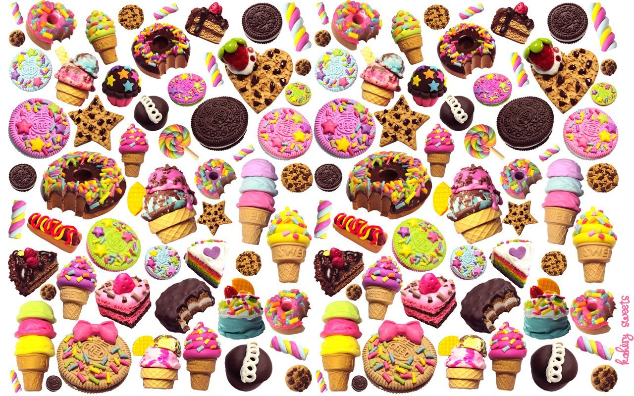 Desktop Candy Delectable wallpaper of actual kawaii jewelry 1280x800