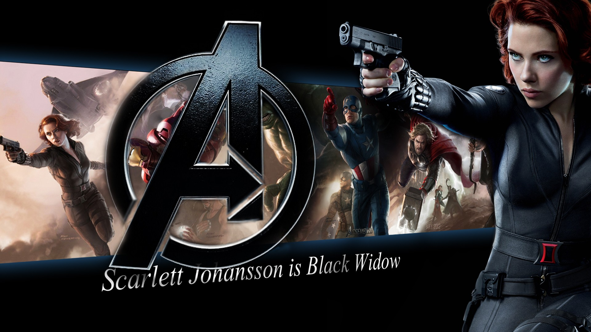 Black Widow   The Avengers Wallpaper 29518243 1920x1080