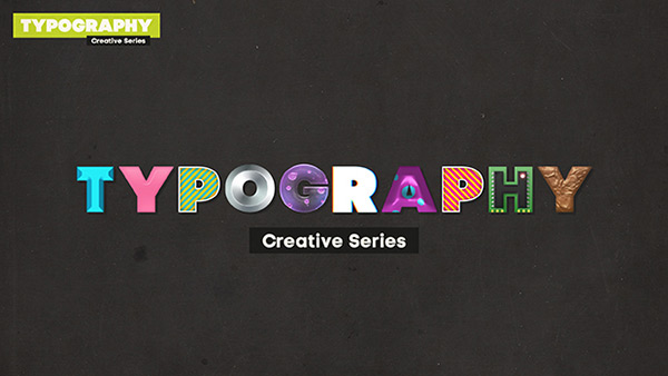 Create a Typography Wallpaper with 9 Different Text Effects Styles in 600x338