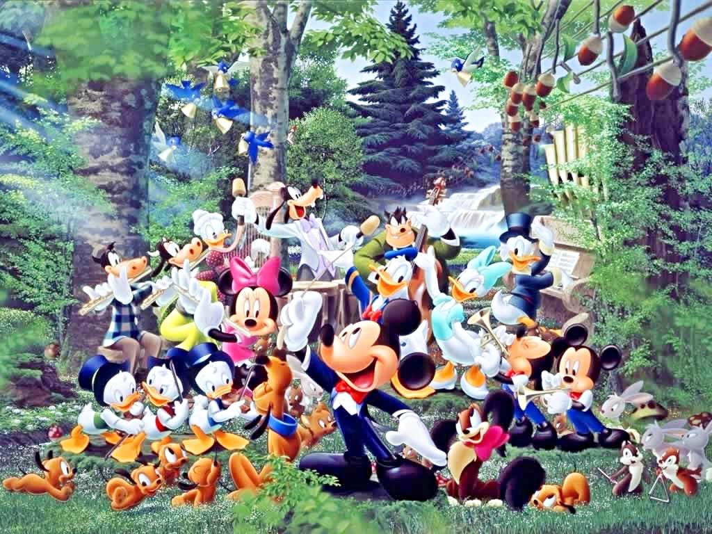 Walt Disney Wallpapers   The Magic of Music   Walt Disney Characters 1024x768