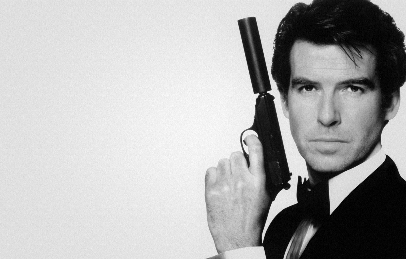 Wallpaper gun 007 james bond Pierce Brosnan Pierce Brosnan 1332x850