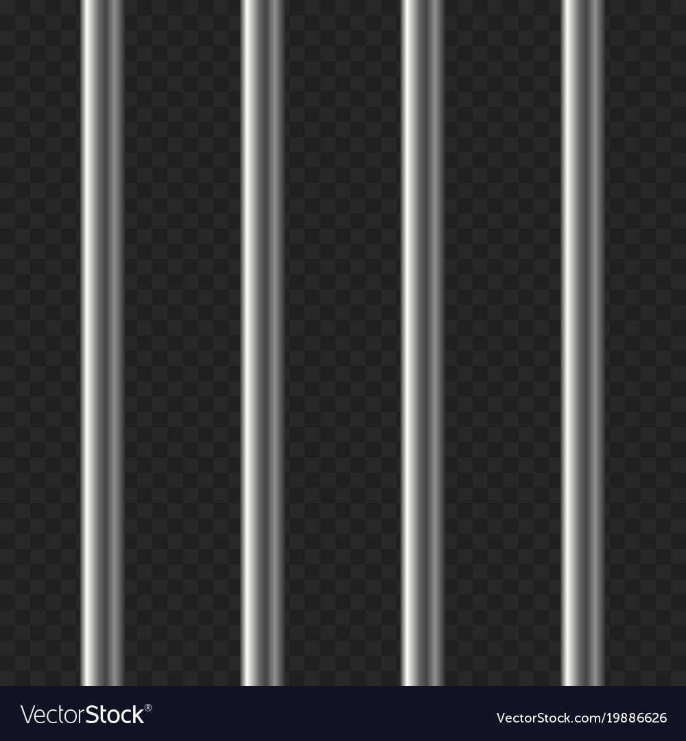 Realistic prison bars on transparent background Vector Image 1000x1080
