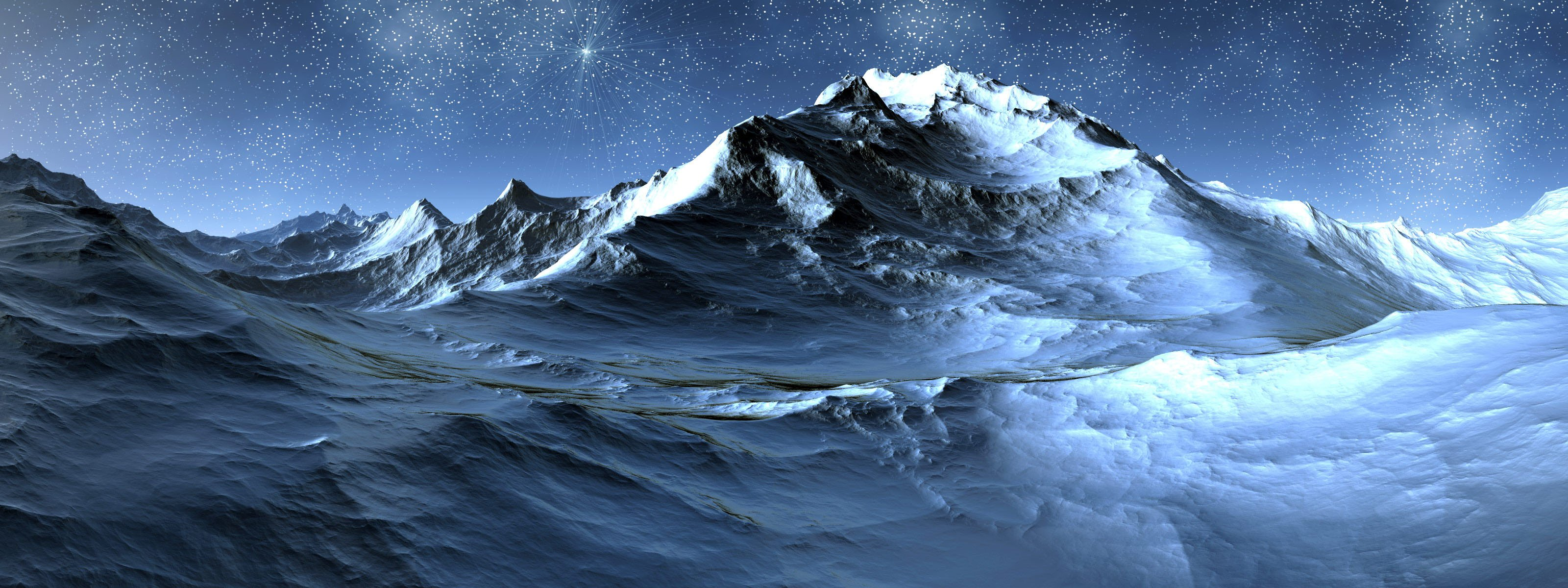 3D Landscape 20   Dual Screen Photography Desktop Wallpapers 7811 3200x1200