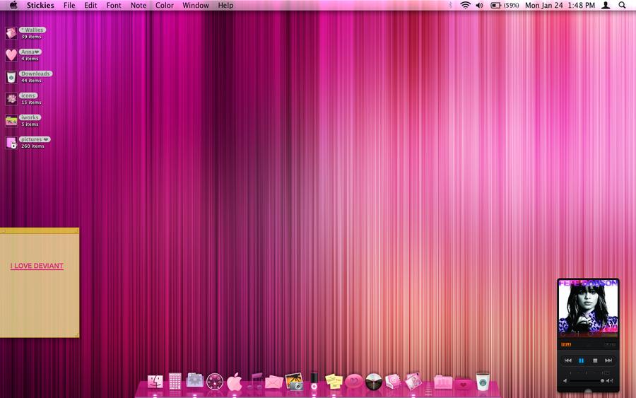 Pink Mac Wallpaper Desktop Hot pink mac desktop by 900x563
