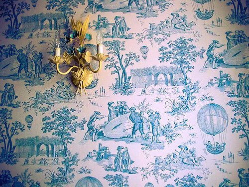 French Country Toile wallpaper 500x375