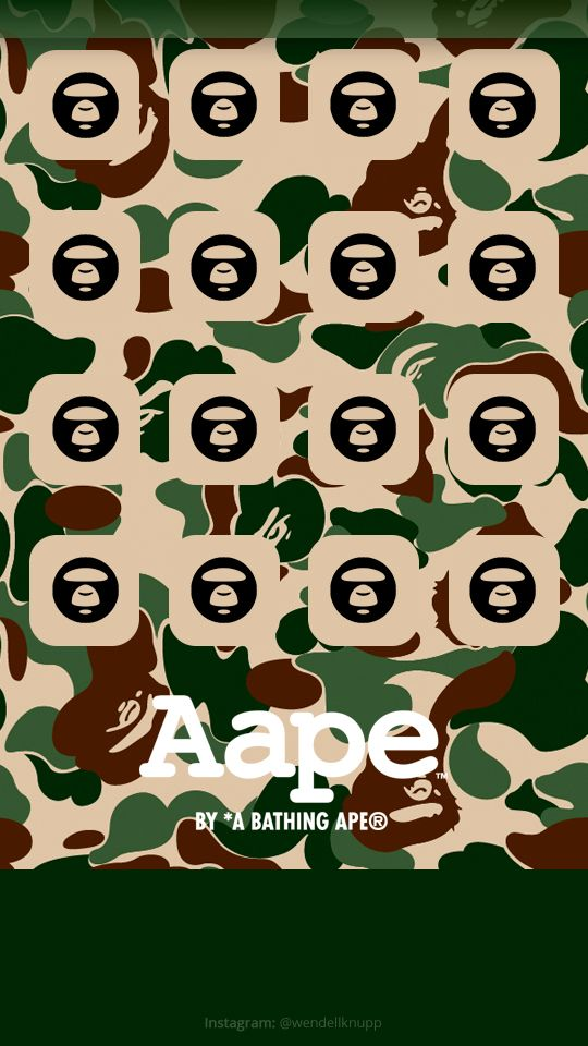 Background A Bathing Ape for IPhone 5s Start screen Click 540x960