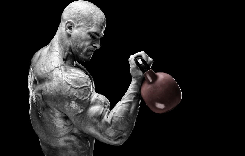 Wallpaper power muscles training bodybuilder peeled Russian 1332x850