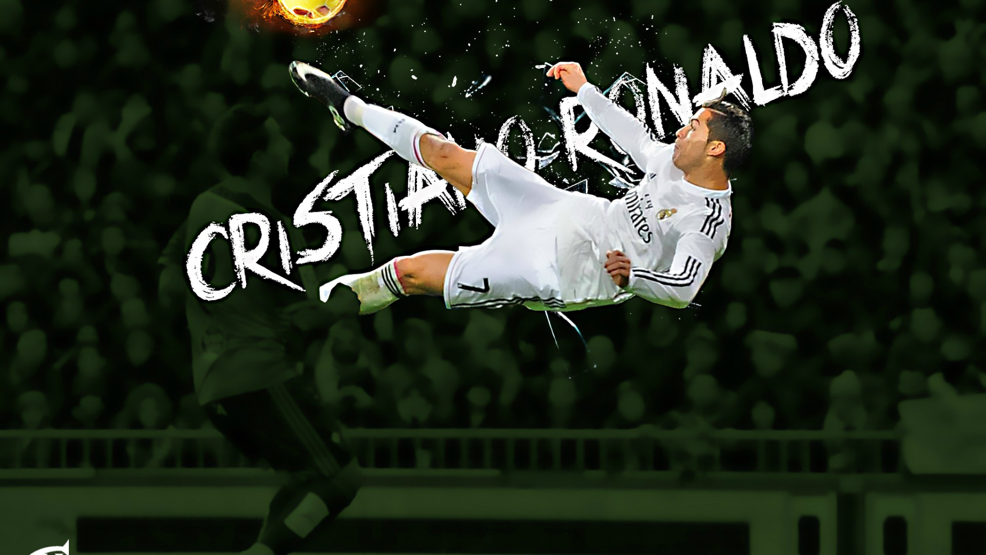 Download Cristiano Ronaldo CR7 Flying Shot Football HD Wallpaper 1920x1080