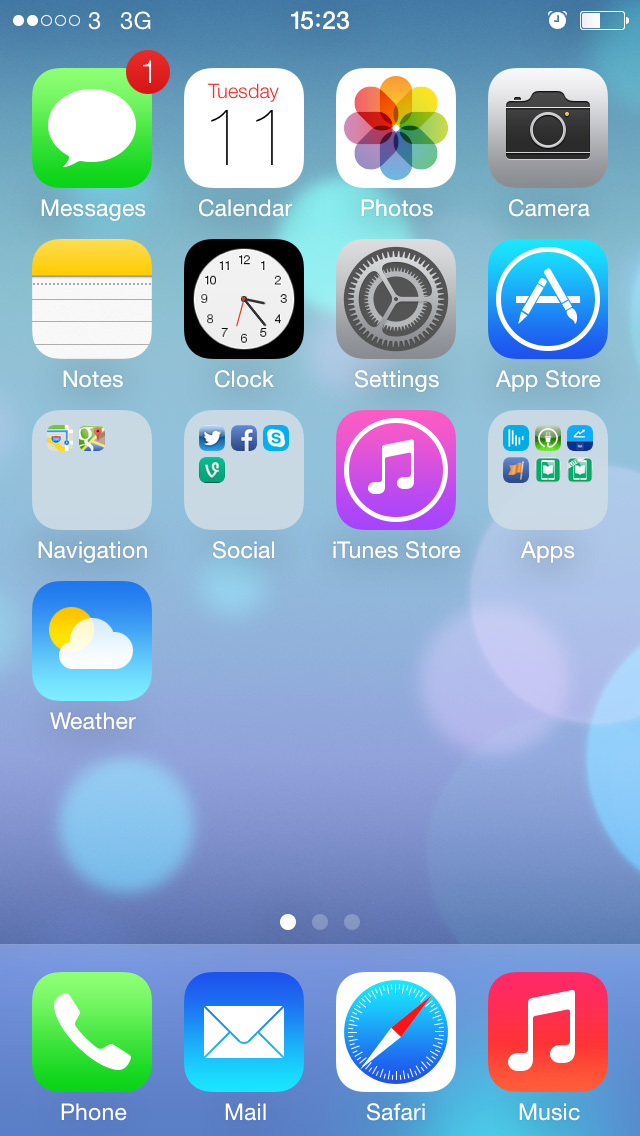 How to set an animated background wallpaper in iOS 7 640x1136