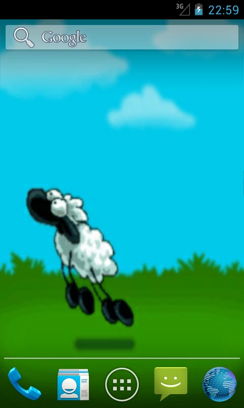 Download Jumping Sheep Live Wallpapers for your Android phone 480x800