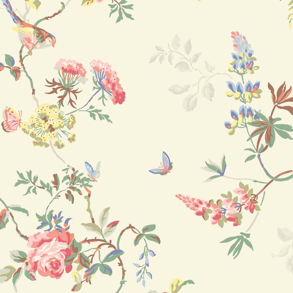 Vintage Birds Wallpaper Antique rose wallpaper 1000x1000