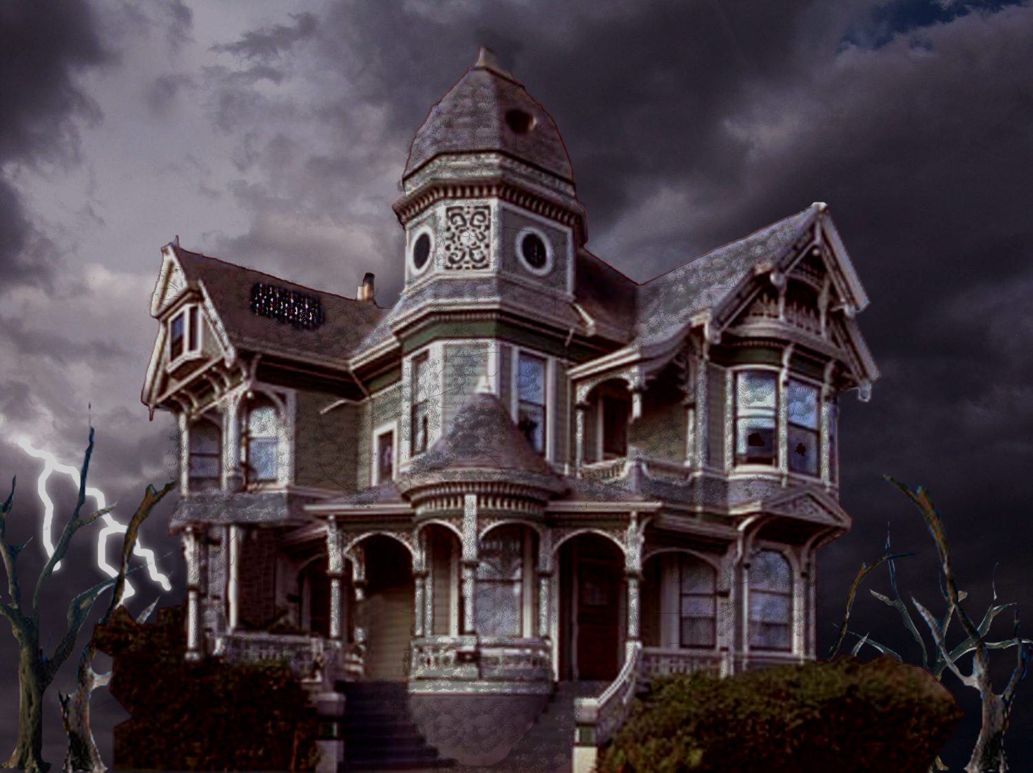 Haunted House Wallpaper Animated  scary haunted house free 1500x1123