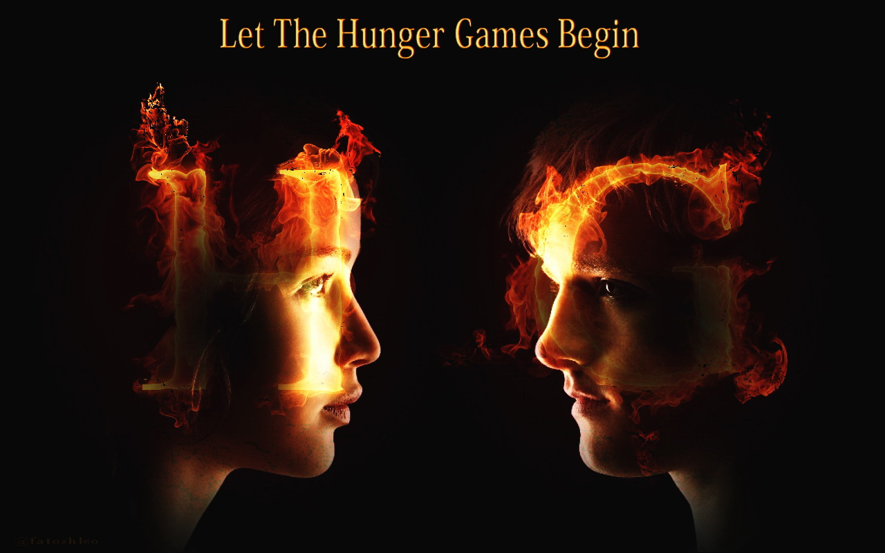 The Hunger Games Wallpaper  Katniss and Peeta   The Hunger Games 1280x800