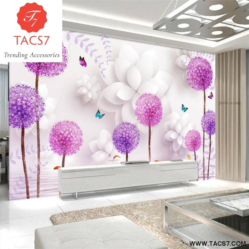 Custom high level wallpaper three dimensional flowers dandelion 3d 1000x1000