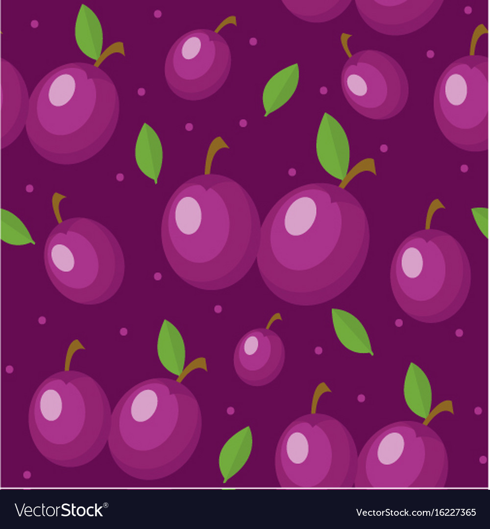 Seamless Plum Watercolor Vector Images 36 1000x1080