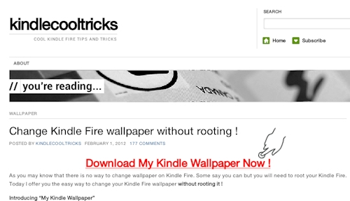 How To Get Wallpaper For Kindle Fire 500x287