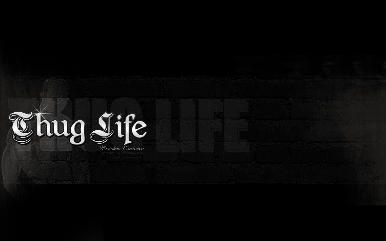 thug life by xsabrina fan art wallpaper other thanks to these brush 1280x800