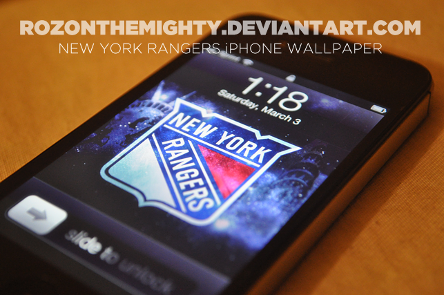 New York Rangers iPhone Wallpaper by rozonthemighty 643x427