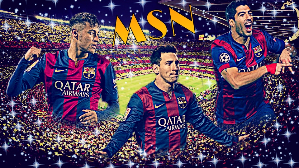 Neymar Messi Suarez Poster images 960x540