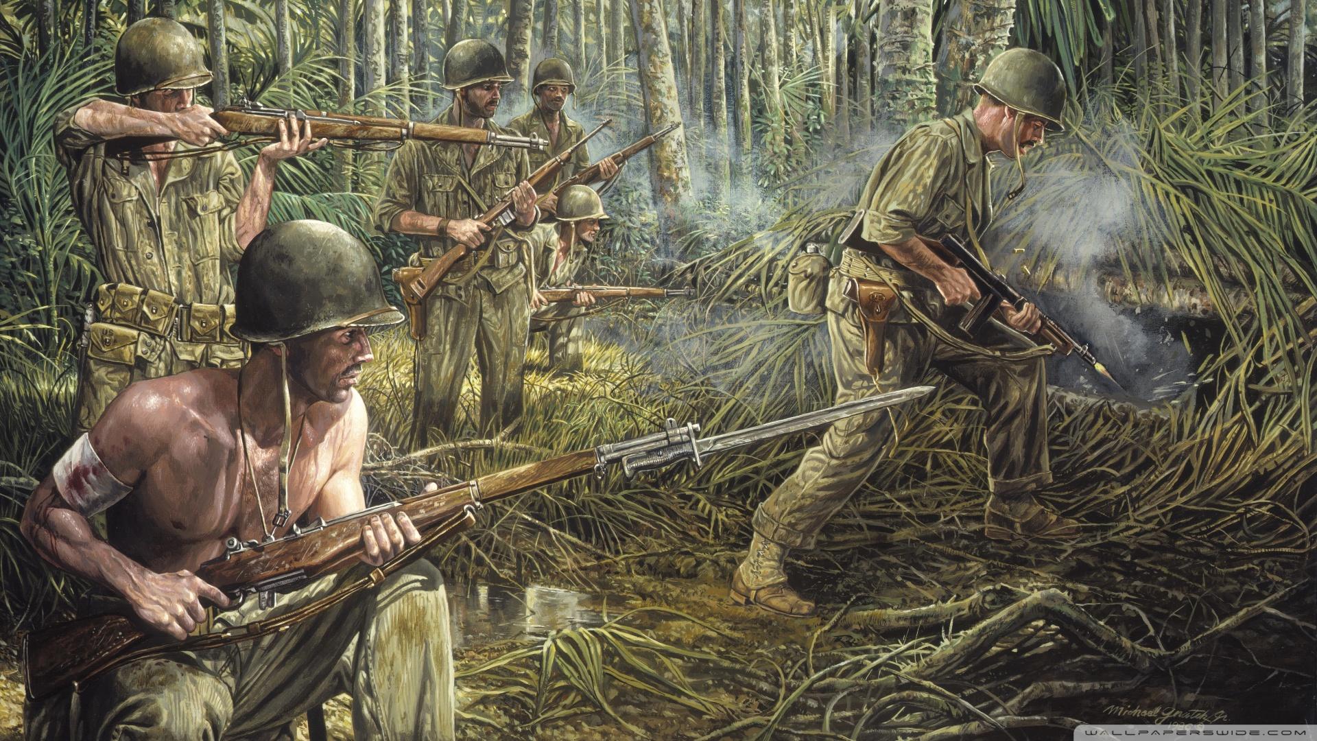 Vietnam War Painting 4K HD Desktop Wallpaper for 4K Ultra HD TV 1920x1080