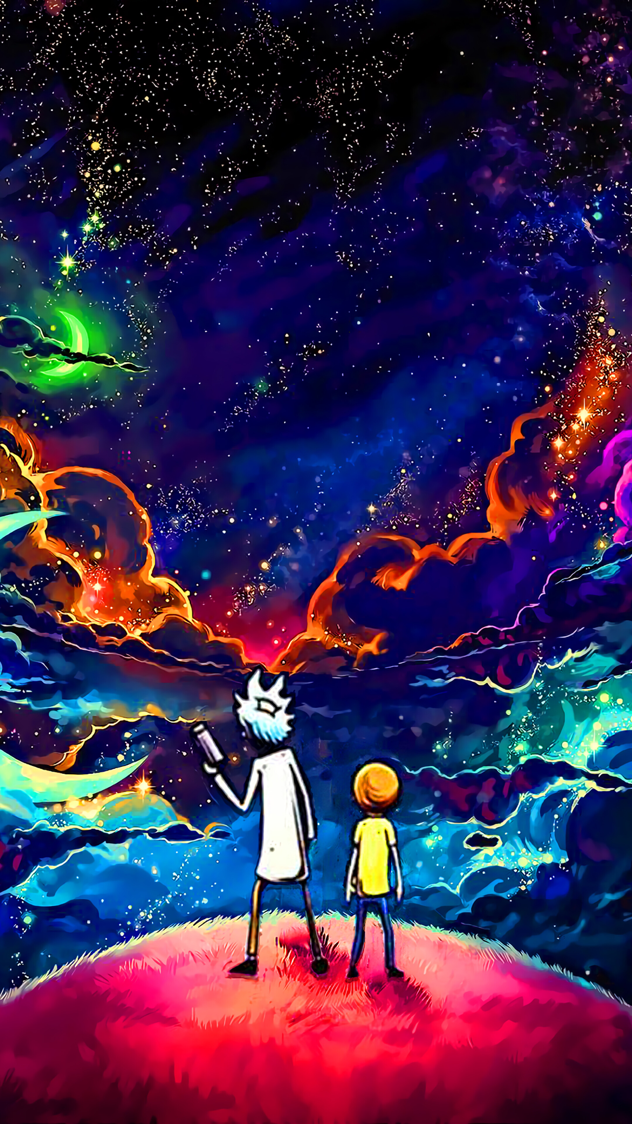 Rick and Morty Sky Stars 4K Wallpaper 5118 2160x3840