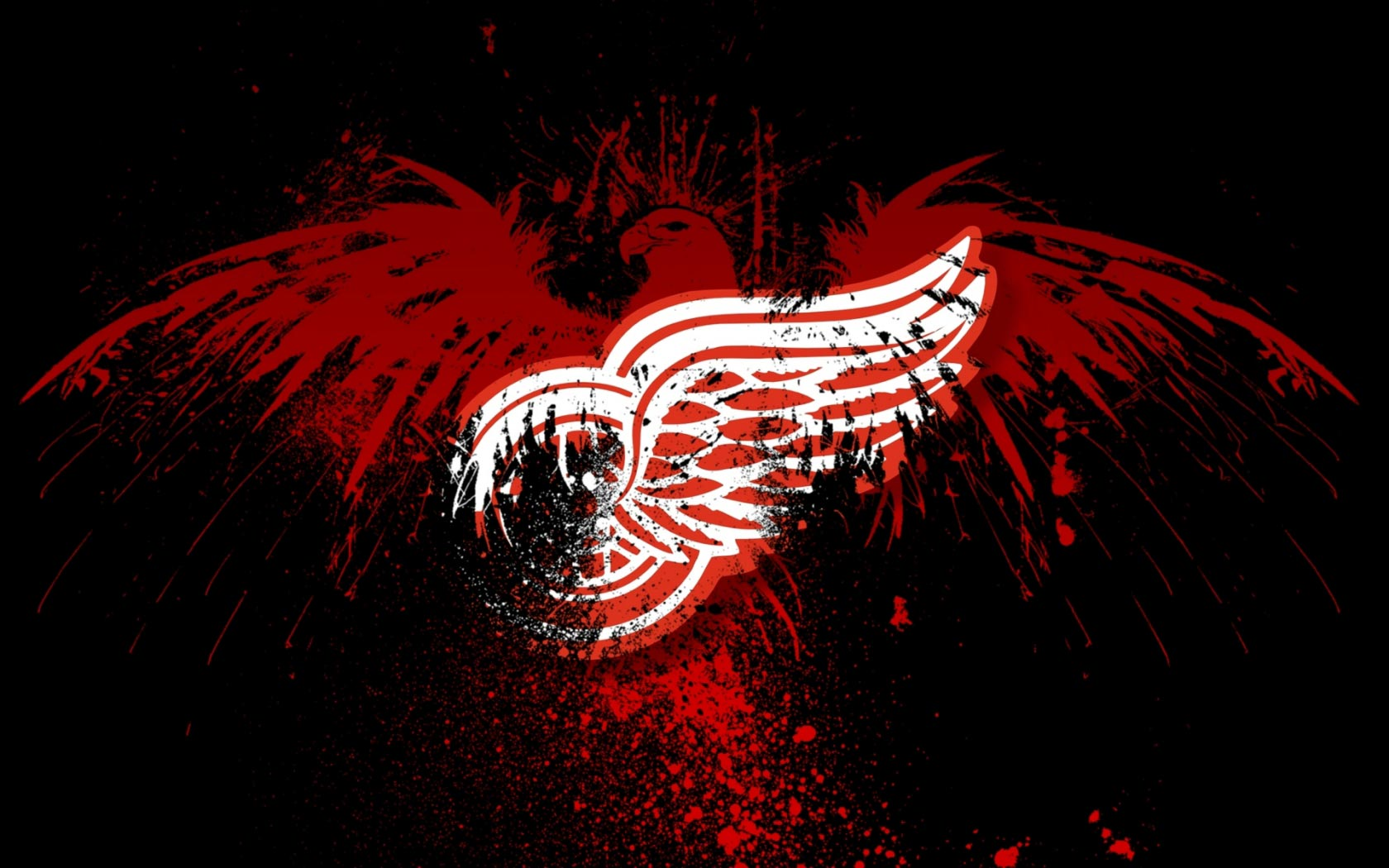 Red Wings Logo Wallpapers 1680x1050