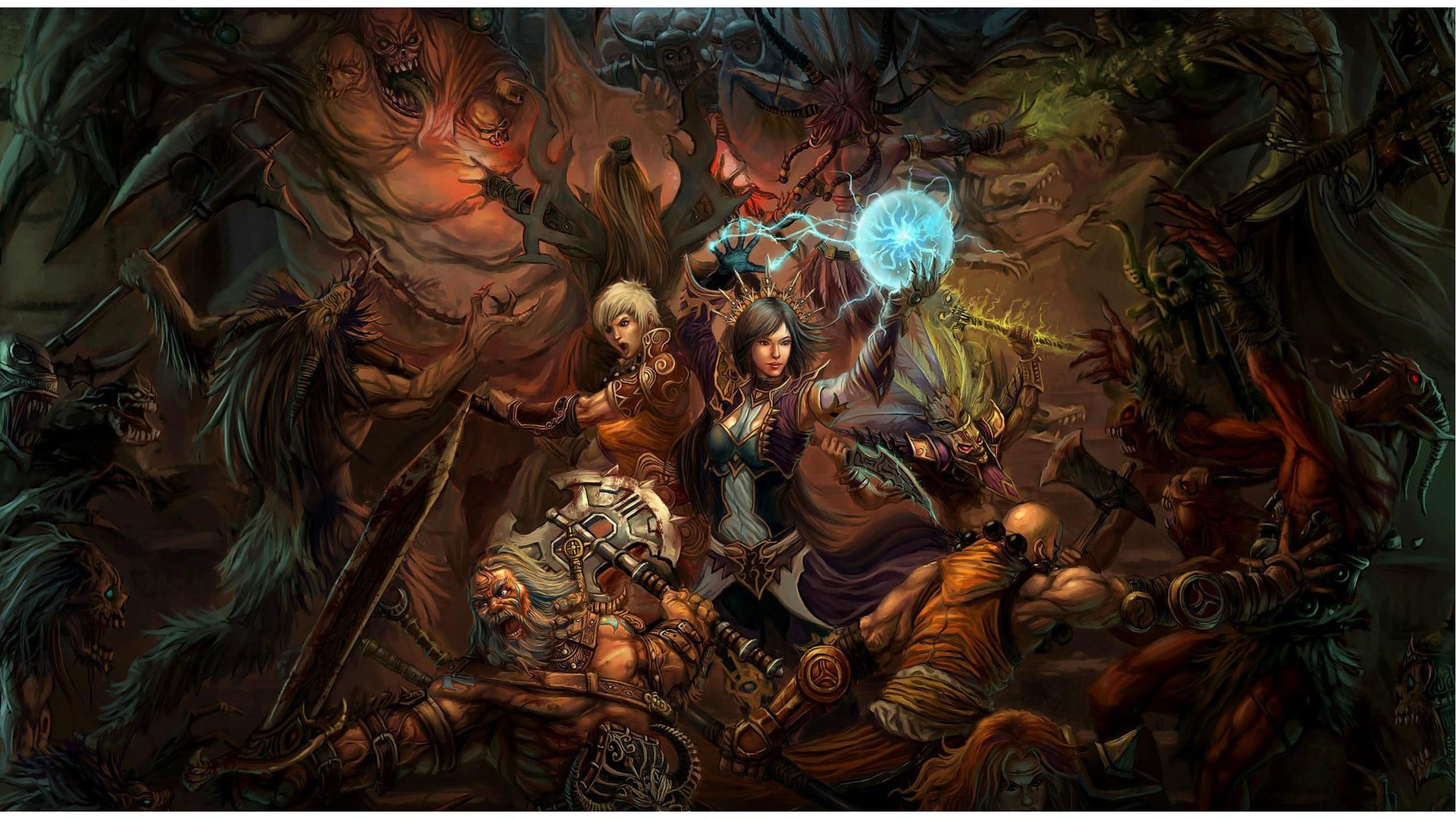 Bloody Battle In Diablo 3 Game Wallpapers   2560x1440   1045157 2560x1440